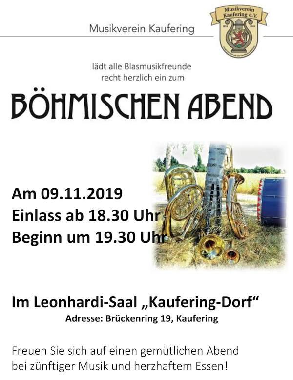 Böhmischer Abend 2019