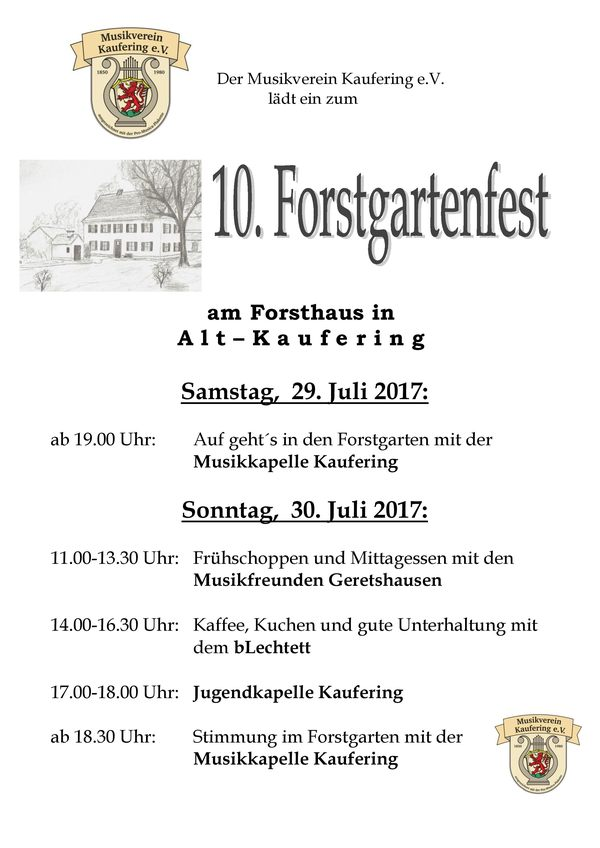 Forstgartenfest 2017 (29. - 30.07.17)