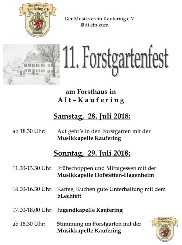 Forstgartenfest 2018 (28. - 29.07.18)