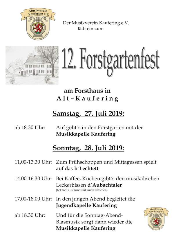 Forstgartenfest 2019 (27. - 28.07.19)