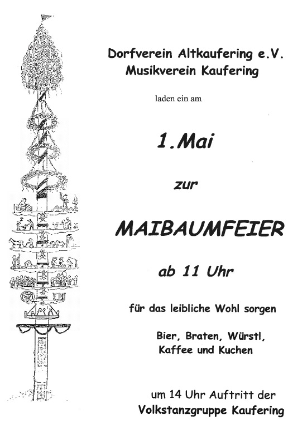 Maibaumfeier (1. Mai)